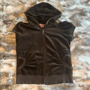 Juicy couture short sleeve hooded zip up